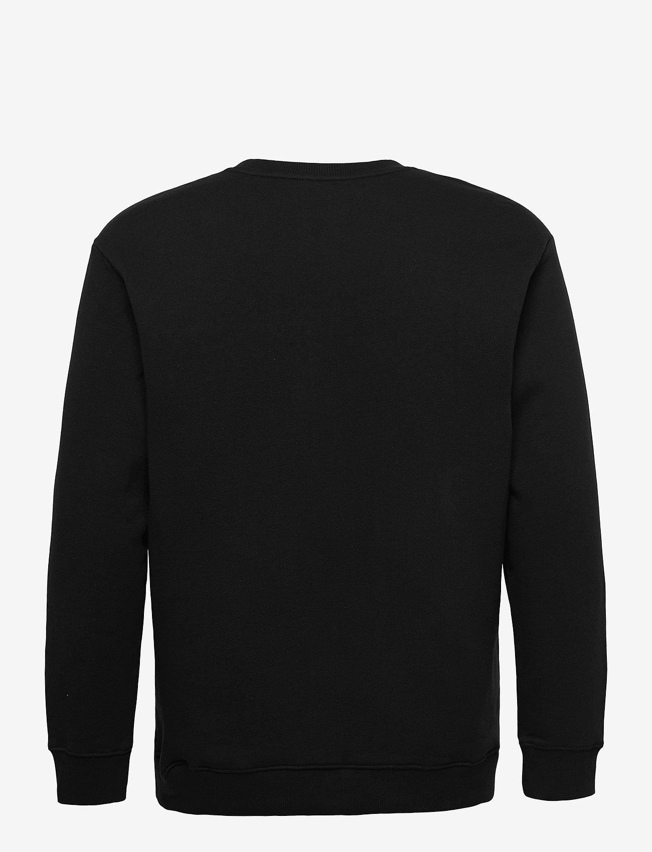 Lee Jeans - BASIC CREW LOGO SWS - tops - black - 1