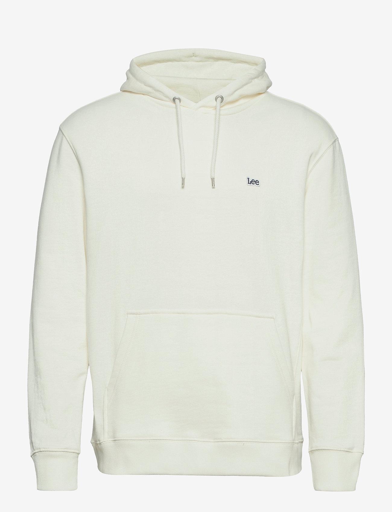 Lee Jeans - PLAIN HOODIE - basic sweatshirts - ecru - 0