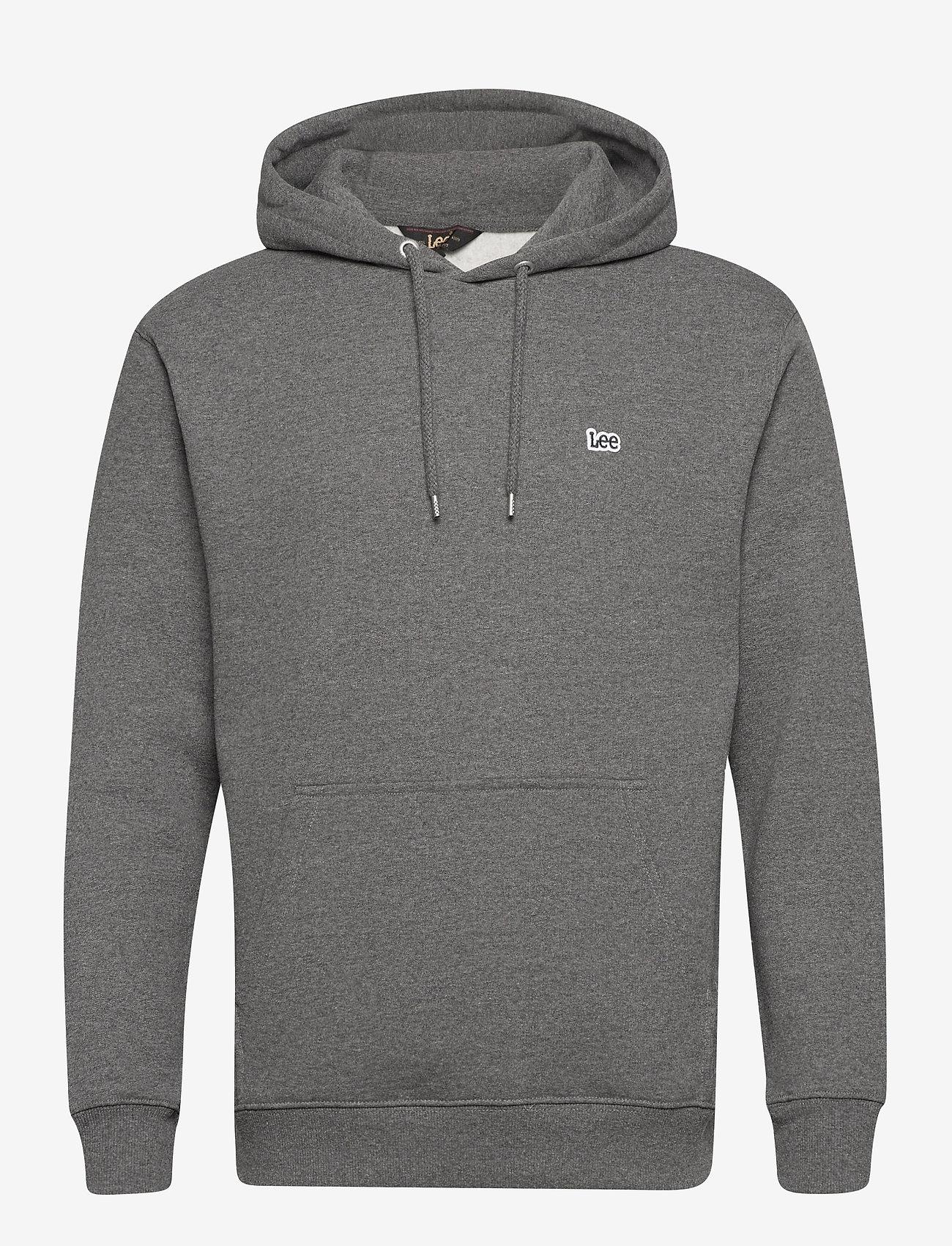 Lee Jeans - PLAIN HOODIE - hoodies - dark grey mele - 0