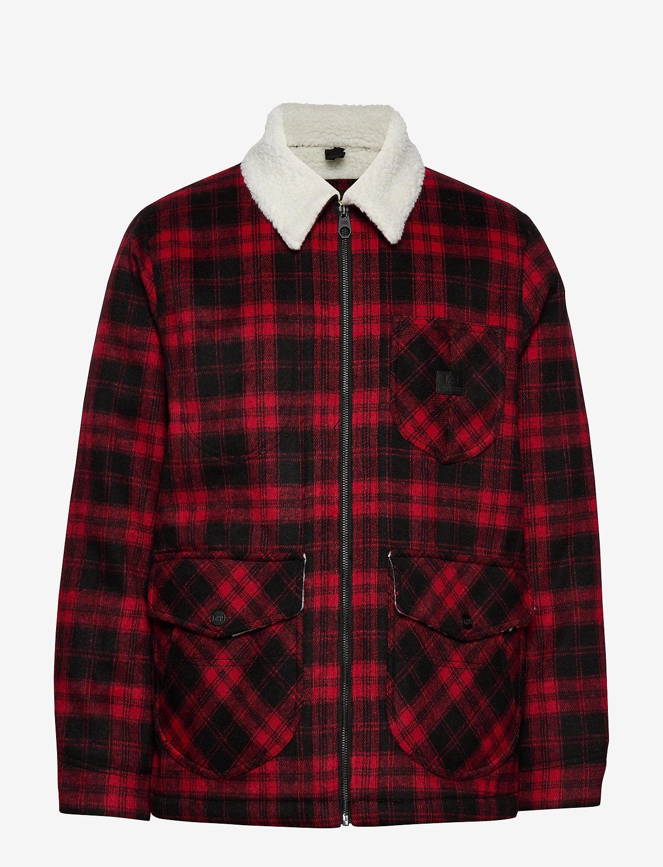 Lee Jeans - WOOL LOCO SHERPA - wool jackets - warp red - 0