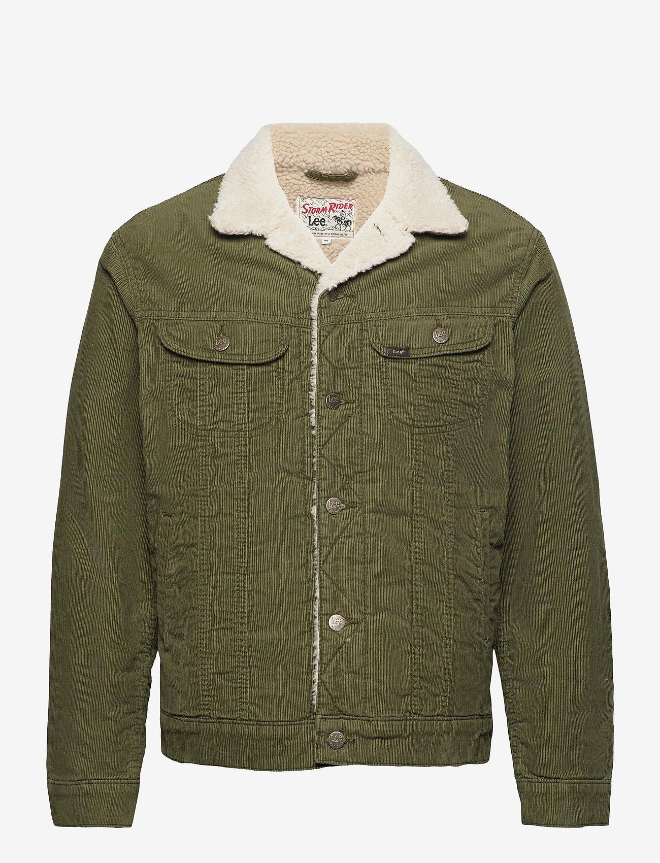 Lee Jeans - SHERPA JACKET - denim jackets - olive green - 0