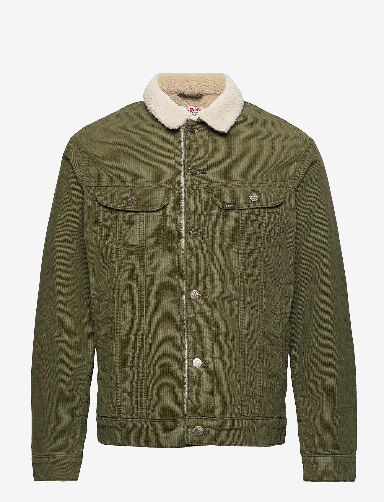 Lee Jeans - SHERPA JACKET - denim jackets - olive green - 1