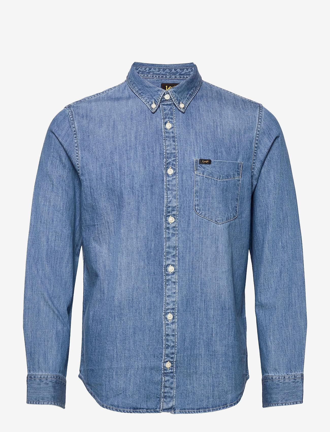 Lee Jeans - LEE BUTTON DOWN - denim shirts - tide blue - 0
