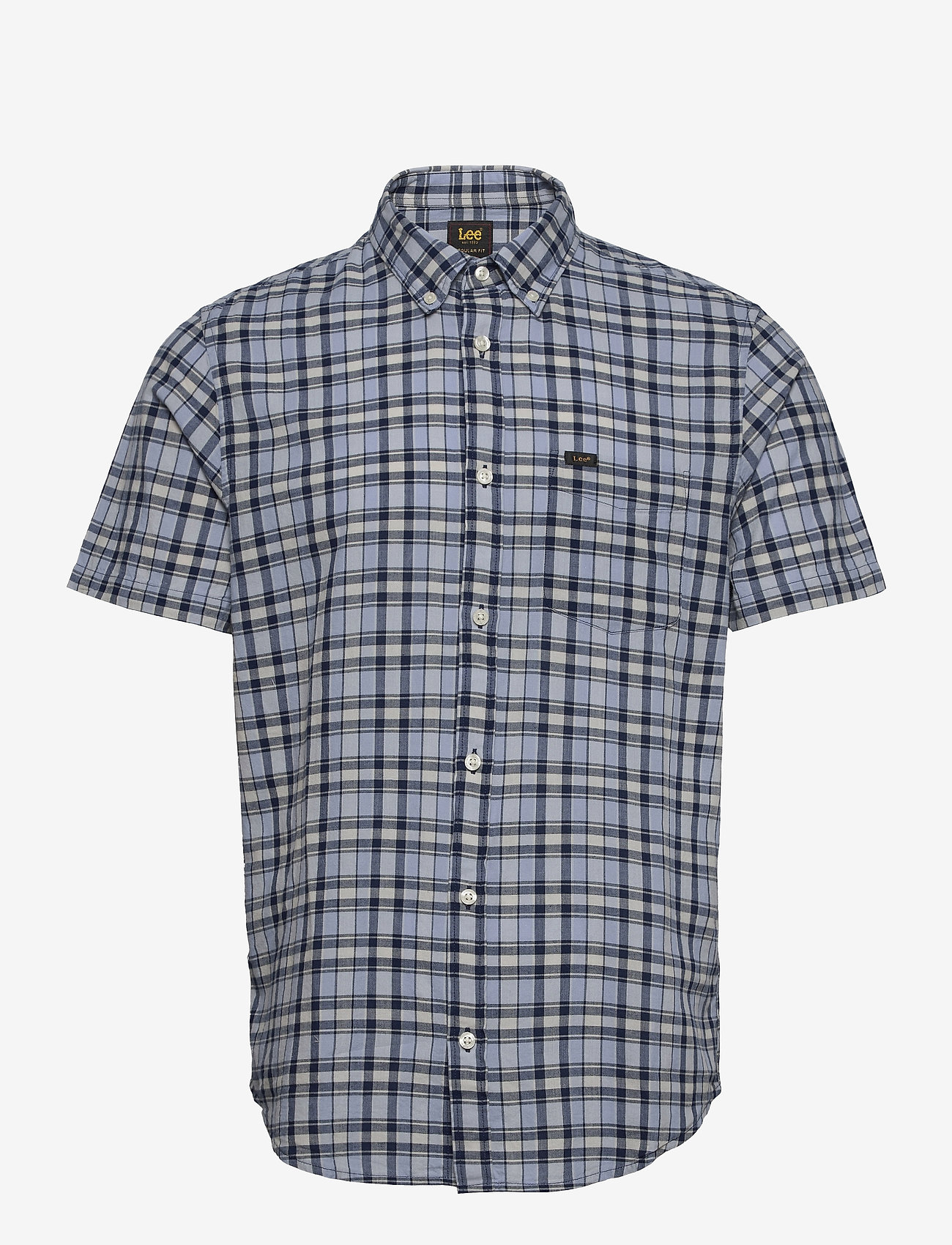 Lee Jeans - LEE BUTTON DOWN SS - checkered shirts - washed blue - 0