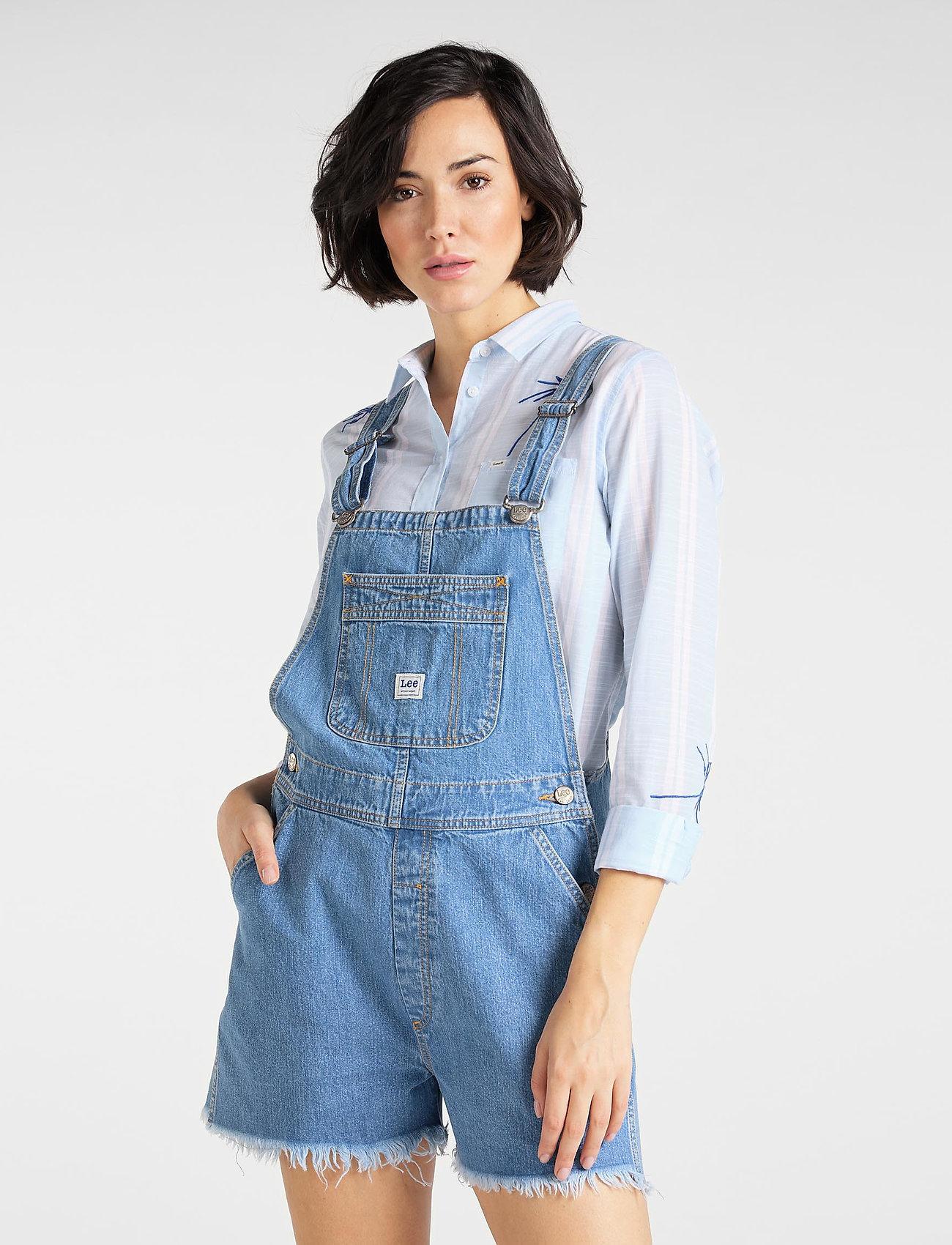 Lee Jeans - BIB SHORT - buksedragter - light trashed - 0