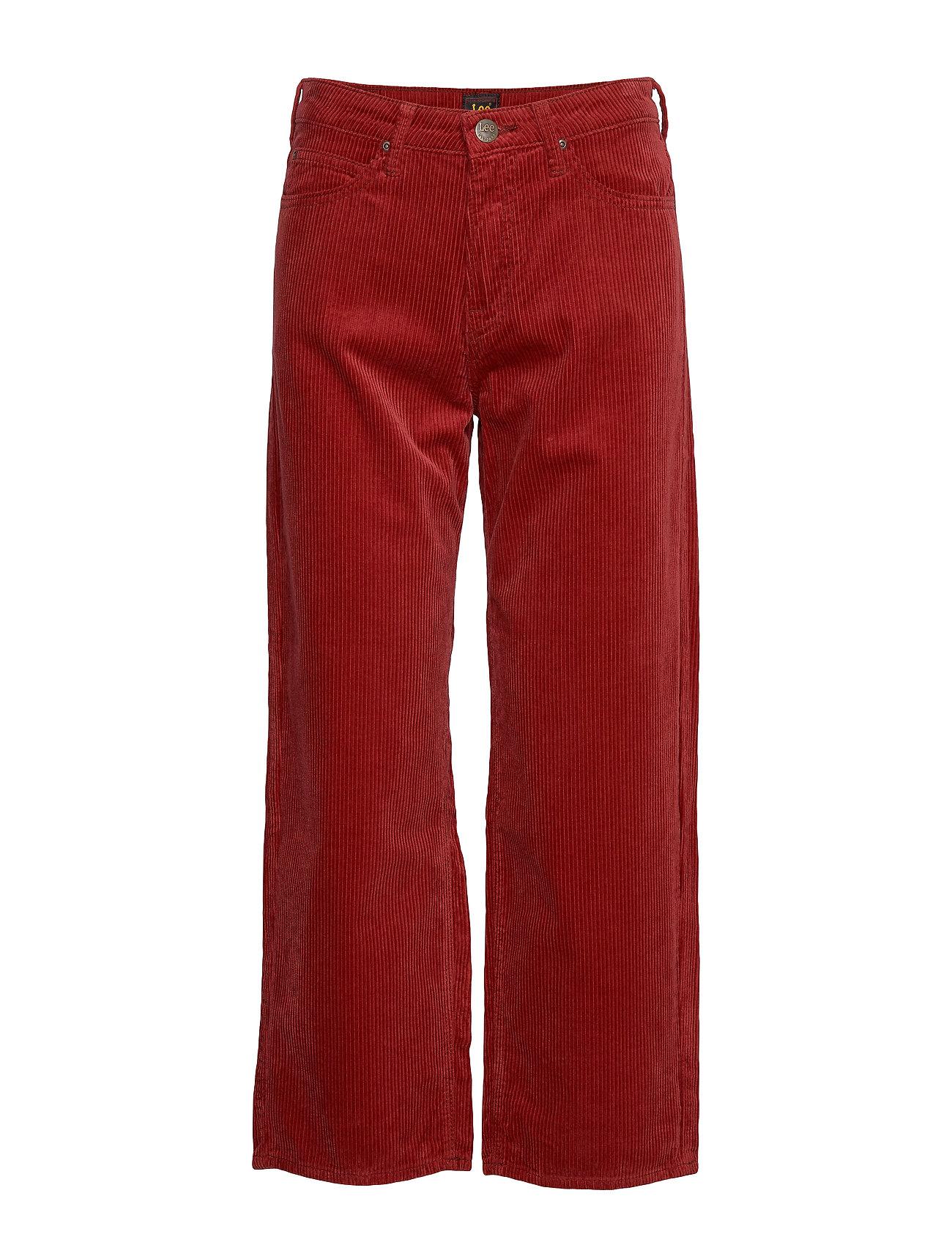 LEE 5 Pocket Wide Leg Hosen Mit Weitem Bein Rot LEE JEANS