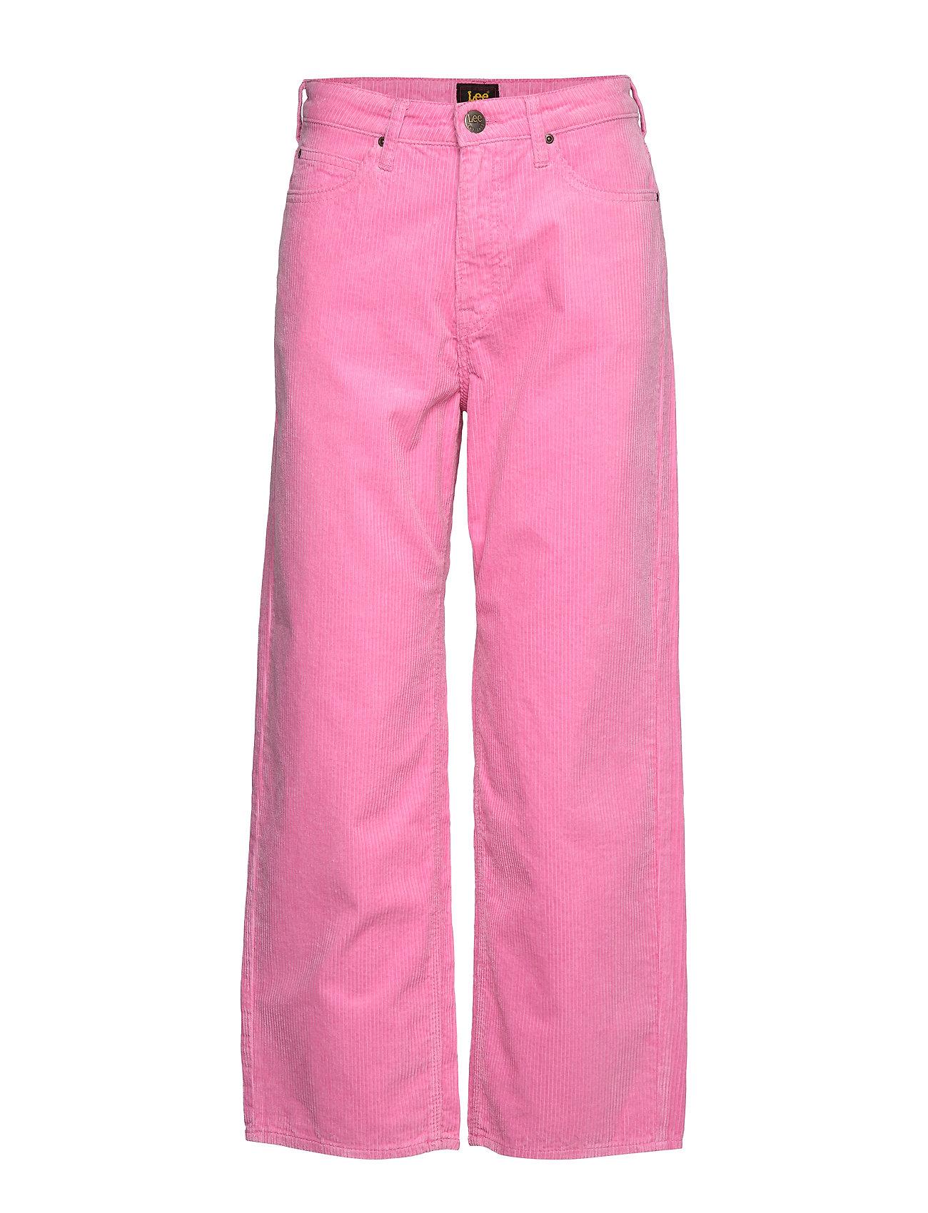 LEE 5 Pocket Wide Leg Hosen Mit Weitem Bein Pink LEE JEANS