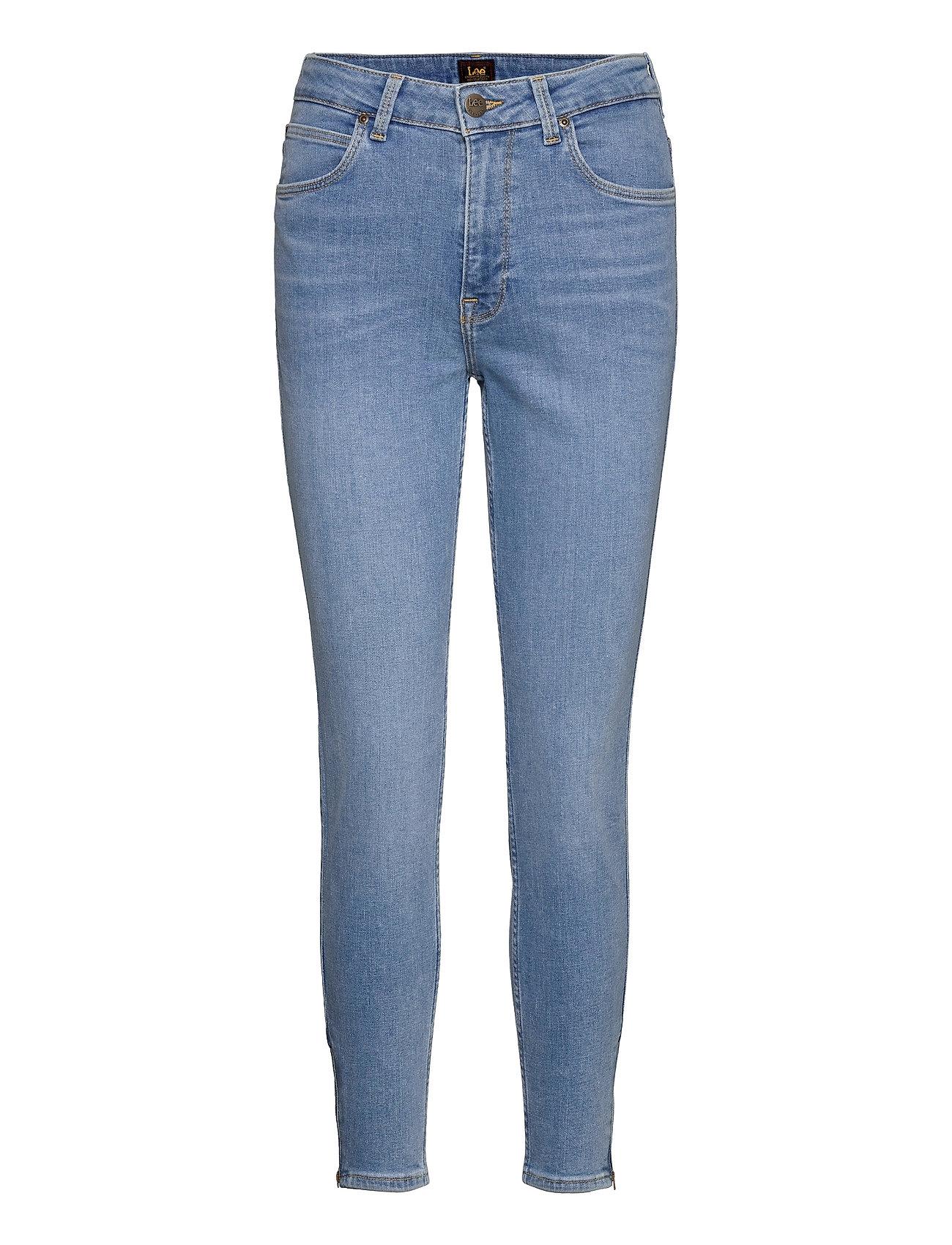 Scarlett High Zip Slim Jeans Blå Lee Jeans