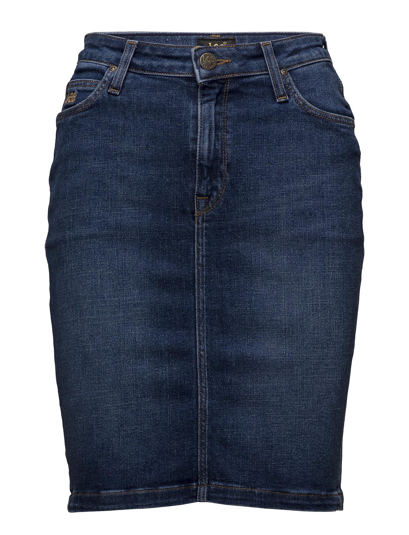 Lee Jeans HIGH WAIST SKIRT - TRUE BLUE