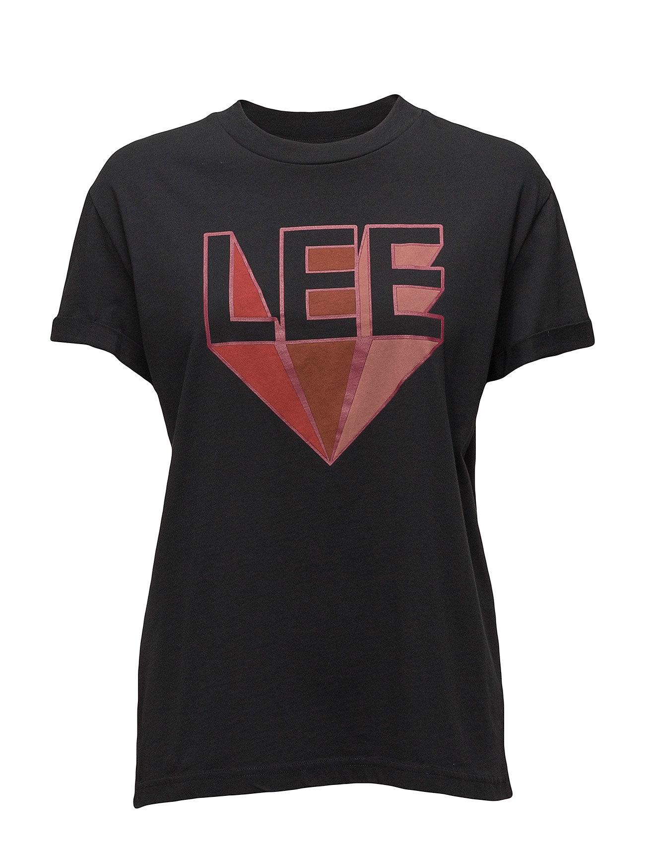 Lee Jeans RETRO LOGO T - FADED BLACK