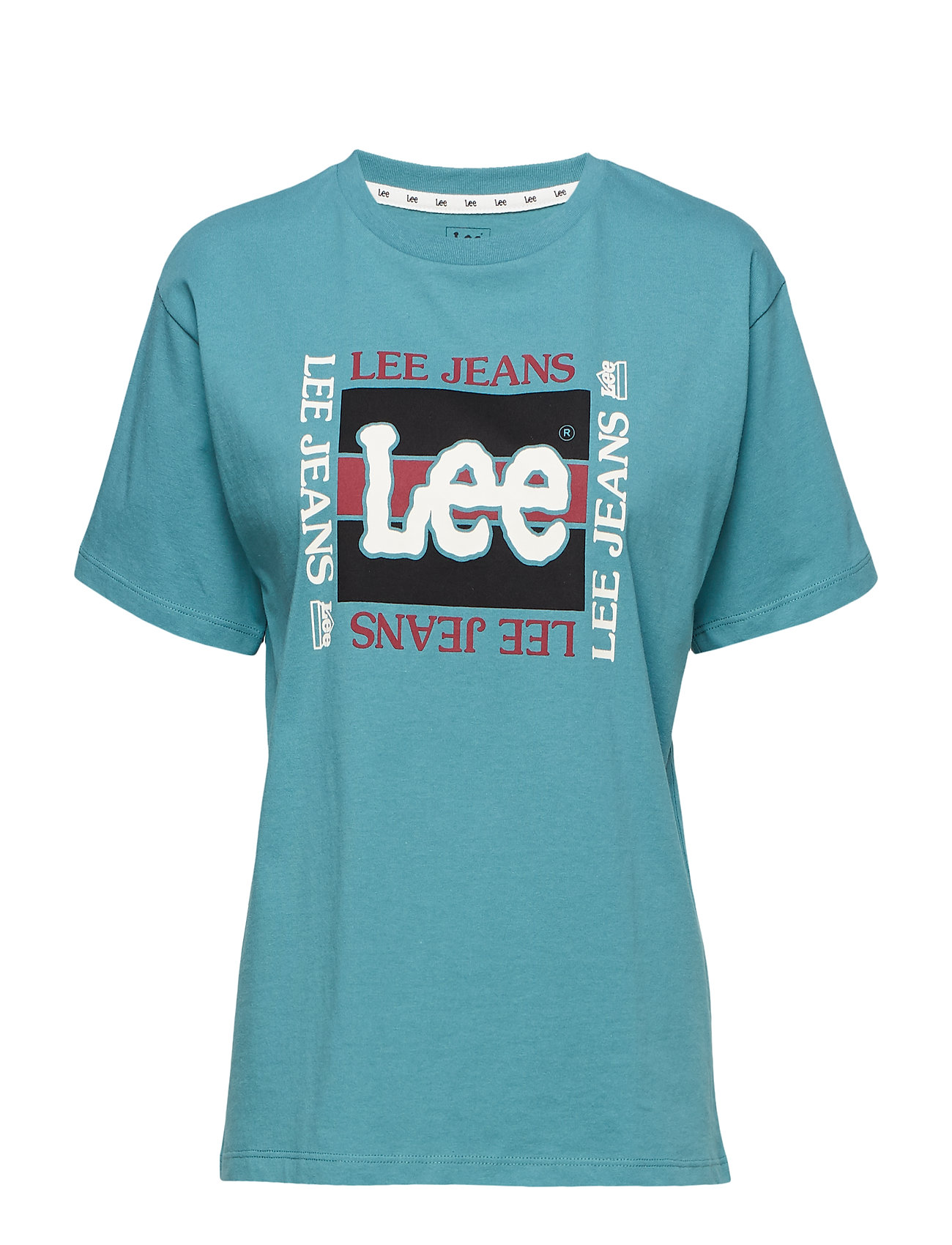 1c2aa659b5e Retro Logo Tee (Faded Green) (£17.50) - Lee Jeans -