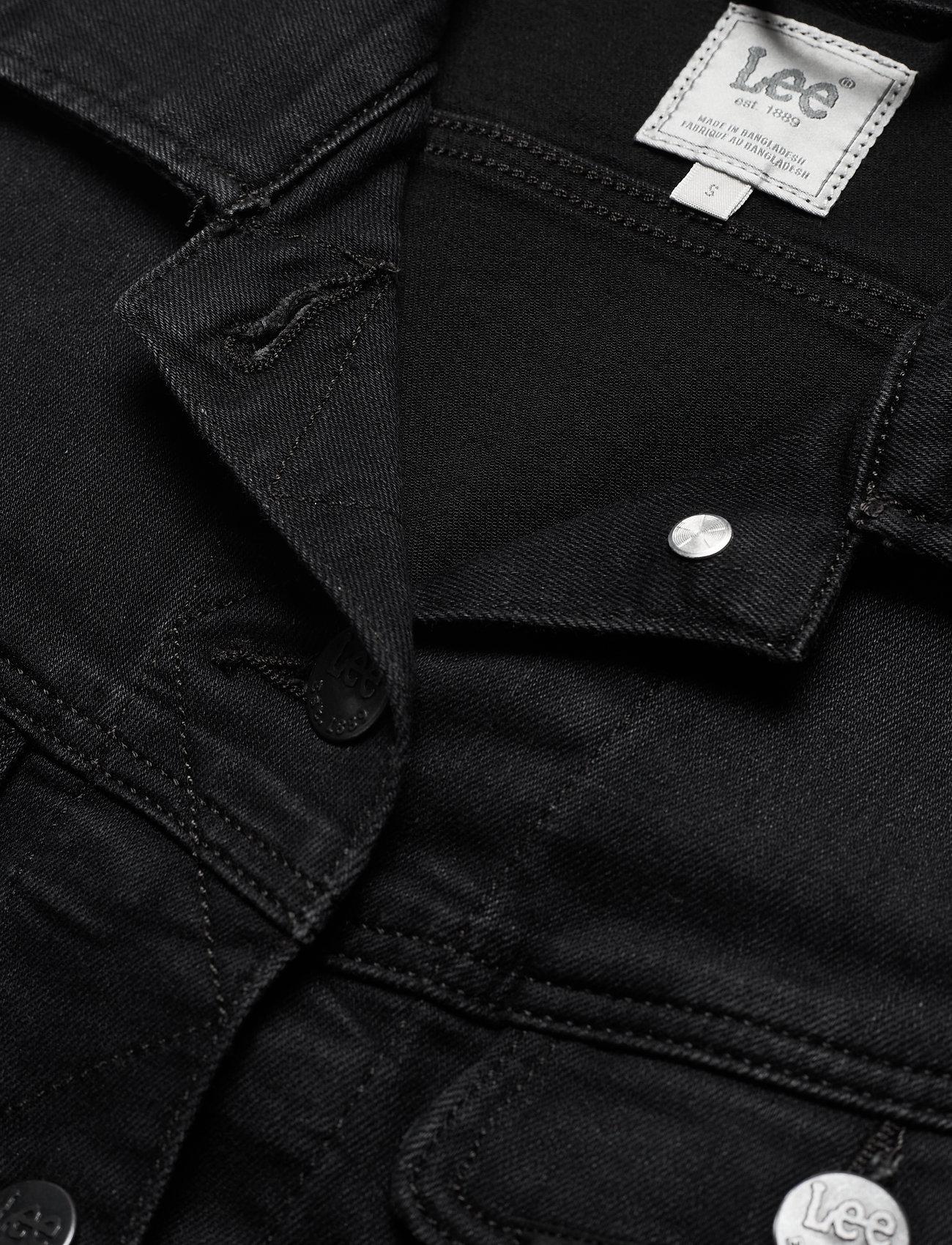 Lee Jeans SLIM RIDER - Kurtki i Płaszcze WASHED BLACK - Kobiety Odzież.