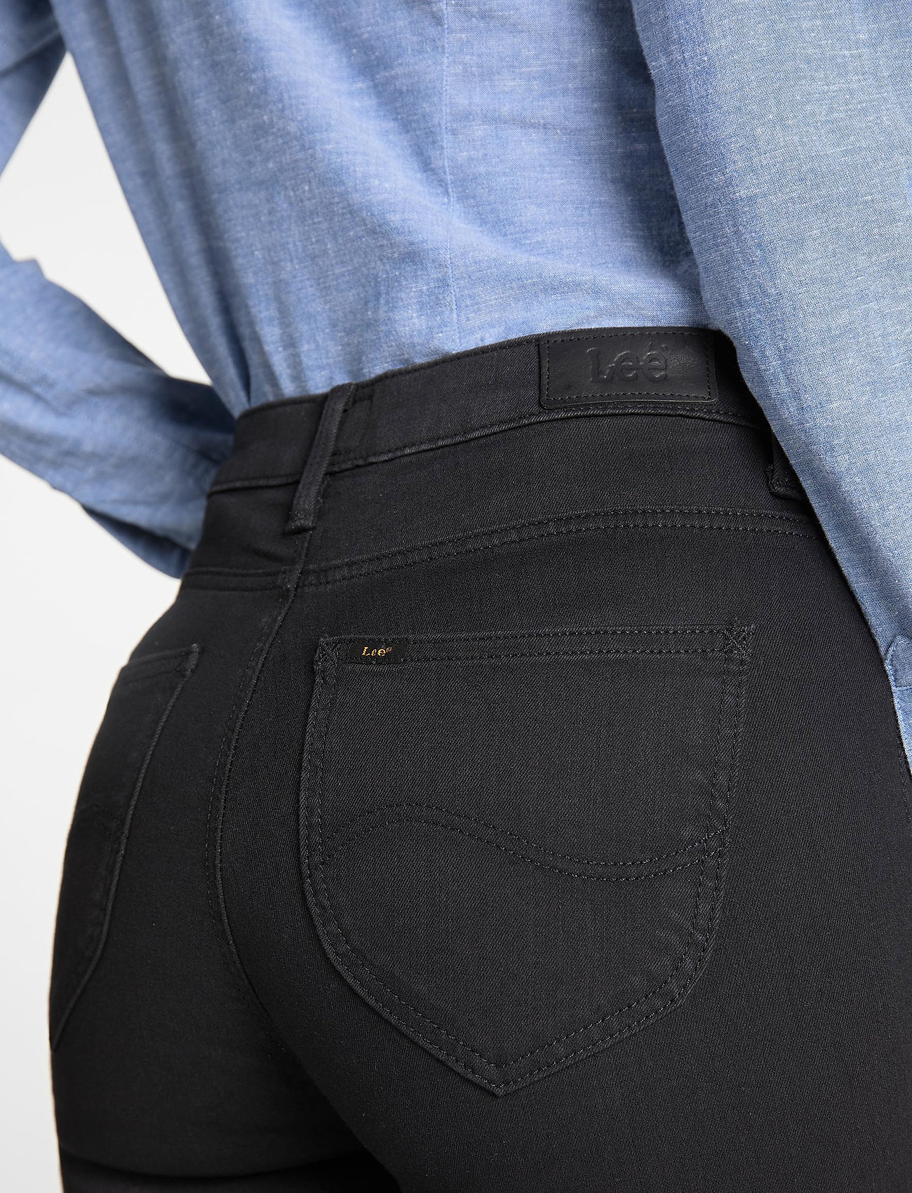 Lee Jeans - SCARLETT HIGH - skinny jeans - black rinse - 4