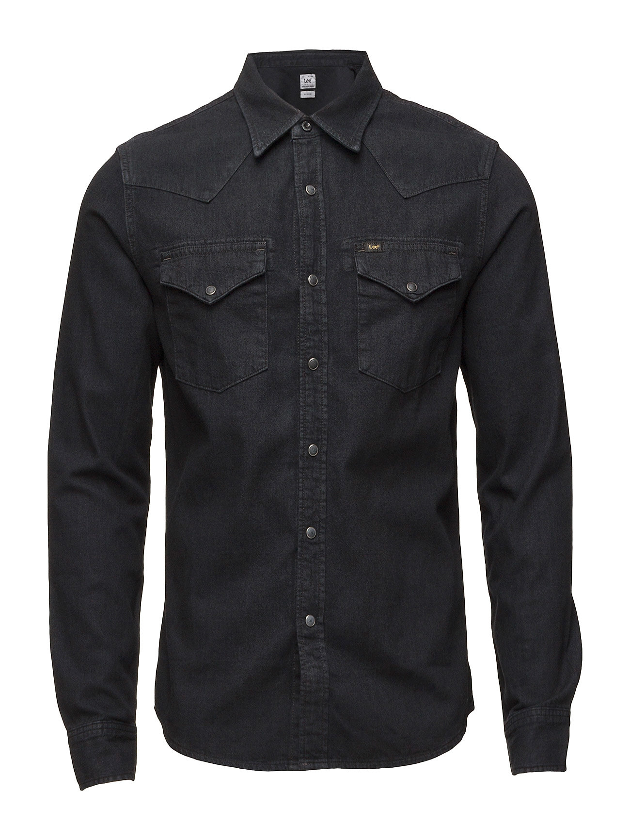 Lee Jeans Shirt Slim Western Pitch Black