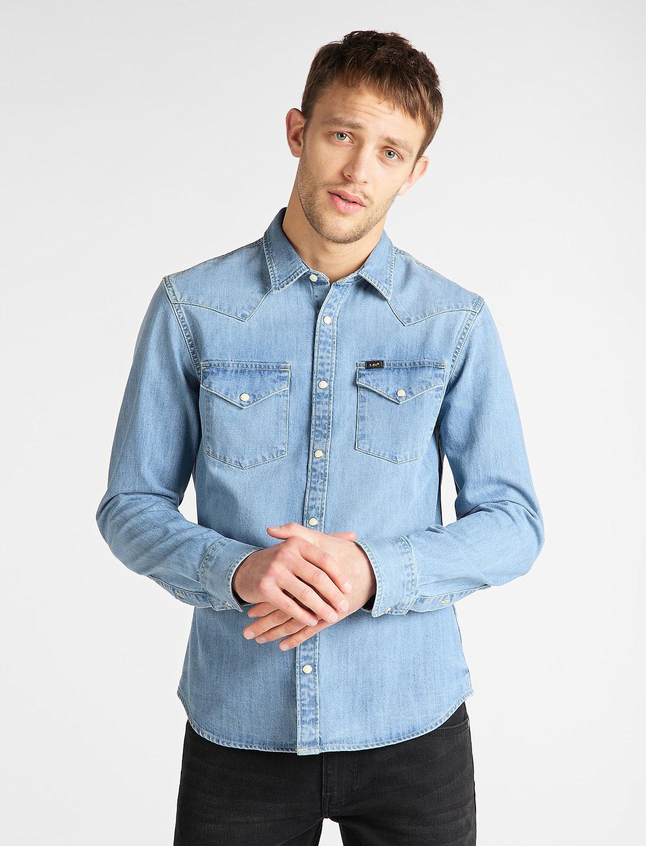 Lee Jeans - LEE WESTERN SHIRT - podstawowe koszulki - frost blue - 0