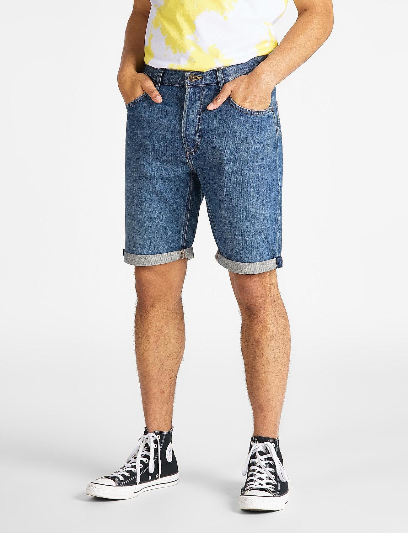 Lee Jeans - 5 POCKET SHORT - farkkushortsit - soft mid aliso - 0