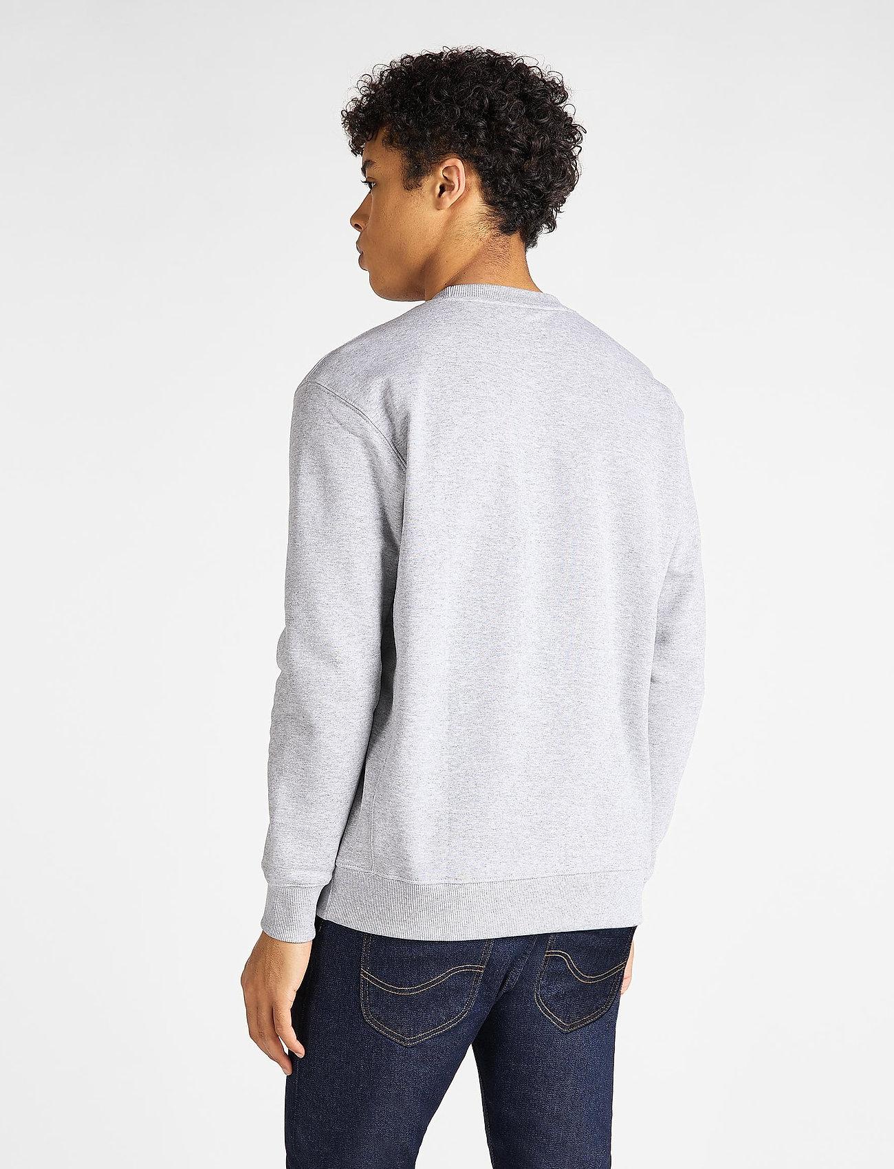 Lee Jeans PLAIN CREW SWS - Sweatshirts GREY MELE - Menn Klær
