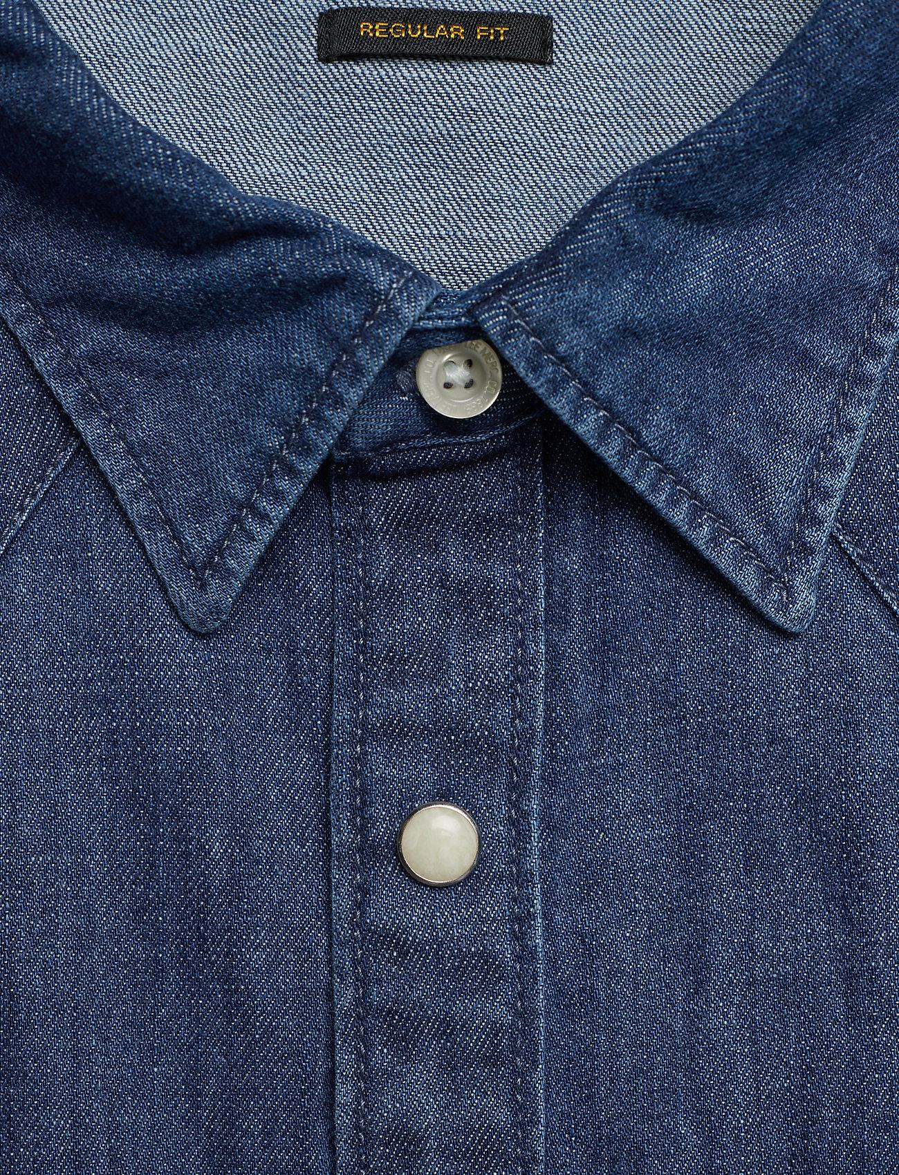 Lee Jeans LEE RIDER SHIRT - Skjorter DIPPED BLUE - Menn Klær