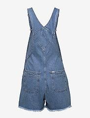 Lee Jeans - BIB SHORT - buksedragter - light trashed - 2