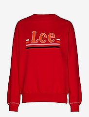 Lee Jeans - LOGO SWS - sweatshirts - warp red - 0