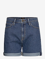 Lee Jeans - MOM SHORT - denimshorts - mid stonewash - 1