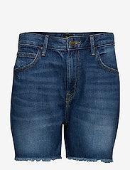 Lee Jeans - BOYFRIEND SHORT - denim shorts - flick dark - 0
