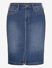Lee Jeans - Pencil Skirt - jeanskjolar - dark len - 0