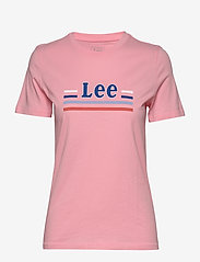 Lee Jeans - ESSENTIAL SLIM TEE - t-shirts - la pink - 1