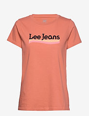 Lee Jeans - CREW NECK TEE - t-shirts - paprika - 1