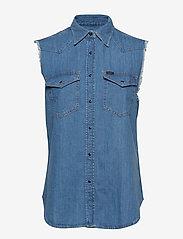 Lee Jeans - CUT OFF WESTERN SHIR - denim shirts - light summer - 0