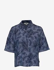 Lee Jeans - FLORAL RESORT SHIRT - overhemden met korte mouwen - washed blue - 0
