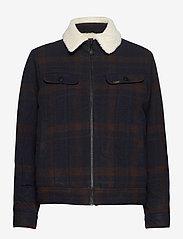 Lee Jeans - WOOL CHECK SHERPA JK - wool jackets - winter brown - 0