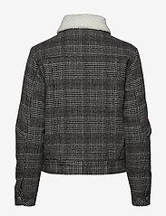 Lee Jeans - WOOL CHECK SHERPA JK - wełniane kurtki - khaki - 1