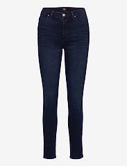 Lee Jeans - SCARLETT HIGH - slim jeans - worn ebony - 0