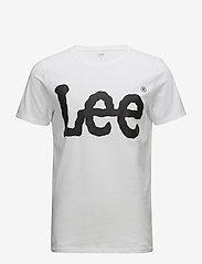Lee Jeans - LOGO TEE WHITE - short-sleeved t-shirts - white - 0