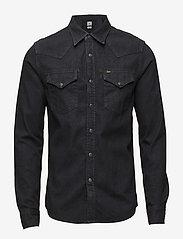 Lee Jeans - LEE WESTERN SHIRT PITCH BLACK - farkkupaidat - pitch black - 0