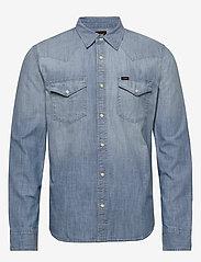 Lee Jeans - LEE WESTERN SHIRT - podstawowe koszulki - faded blue - 0