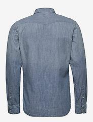 Lee Jeans - LEE WESTERN SHIRT - podstawowe koszulki - faded blue - 1