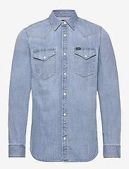 Lee Jeans - LEE WESTERN SHIRT - podstawowe koszulki - frost blue - 1