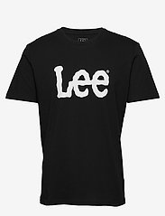Lee Jeans - WOBBLY LOGO TEE - short-sleeved t-shirts - black - 0