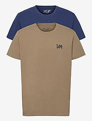 Lee Jeans - TWIN PACK GRAPHIC - basic t-shirts - green blue - 0