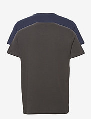 Lee Jeans - TWIN PACK GRAPHIC - basic t-shirts - black navy - 1