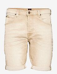 Lee Jeans - 5 POCKET SHORT - denim shorts - faded beige - 0