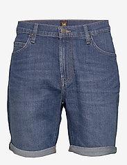 Lee Jeans - RIDER SHORT - denim shorts - hawaii dark - 0