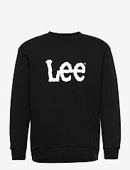 Lee Jeans - BASIC CREW LOGO SWS - tops - black - 0
