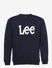 Lee Jeans - BASIC CREW LOGO SWS - tops - midnight navy - 0