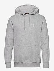 Lee Jeans - PLAIN HOODIE - basic sweatshirts - grey mele - 0