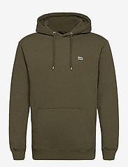 Lee Jeans - PLAIN HOODIE - basic sweatshirts - olive green - 0