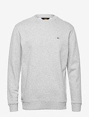 Lee Jeans - PLAIN CREW SWS - basic sweatshirts - grey mele - 0