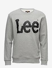 Lee Jeans - LOGO SWS - tops - grey mele - 0